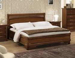 Camel Torriani Night Walnut Tiziano Italian Ring Bed