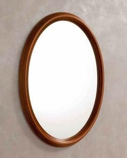 Camel Treviso Night Cherry Wood Italian Oval Mirror - 68cm x 95cm