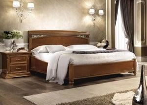 Camel Treviso Night Cherry Wood Italian Storage Ring Bed
