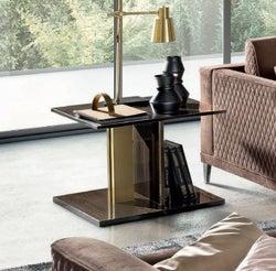 Camel Volare Day Walnut Italian Lamp Table