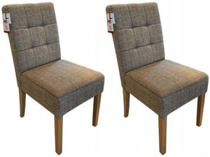 Carlton Additions Colin Hunting Lodge Fabric Dining Chair (Pair)