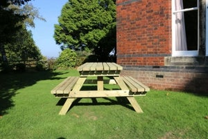 Churnet Valley Deluxe A Frame Picnic Table Set with 2 Benches