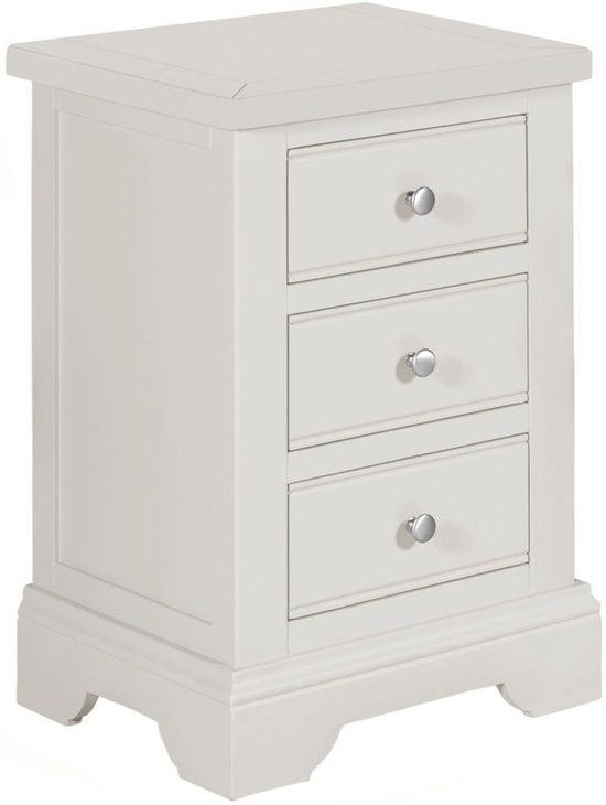 Berkeley Grey Painted 3 Drawer Bedside Cabinet