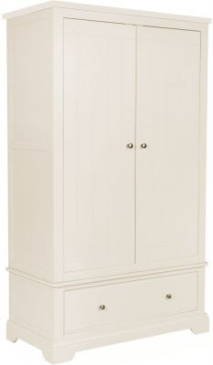 Lily White Painted Gents Wardrobe