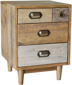 Loft Reclaimed Pine Bedside Cabinet