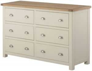 Portland Cream Painted 6 Drawer Chest