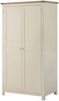 Portland Cream Painted 2 Door Double Wardrobe