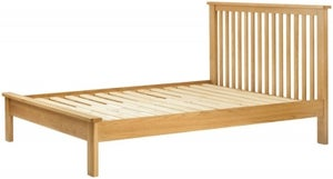 Portland Oak Slatted Bed