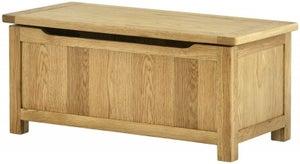 Portland Oak Blanket Box
