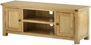 Portland Oak Large TV Cabinet