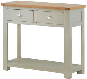 Portland Stone Painted 2 Drawer Console Table