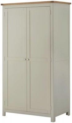 Portland Stone Painted 2 Door Double Wardrobe