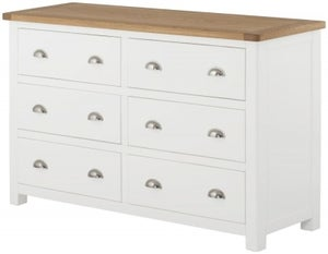 Portland White Painted 6 Drawer Chest
