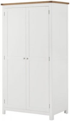Portland White Painted 2 Door Double Wardrobe