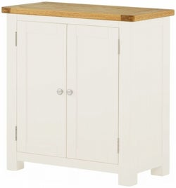 Portland White Painted 2 Door Hall Cabinet
