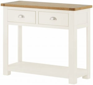 Portland White Painted 2 Drawer Console Table