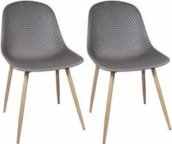 Portofino Dark Grey Dining Chair (Pair)