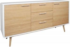 Portofino White and Oak Large Sideboard