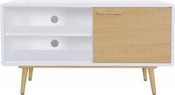 Portofino White and Oak Small TV Cabinet