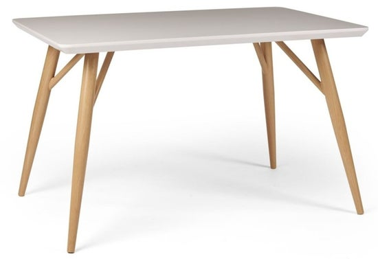 Portofino White and Oak Dining Table