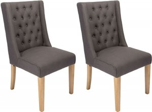 Luxor Slate Fabric Dining Chair (Pair)