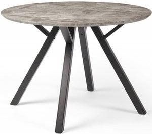 Tetro Concrete Effect 110cm Round Dining Table