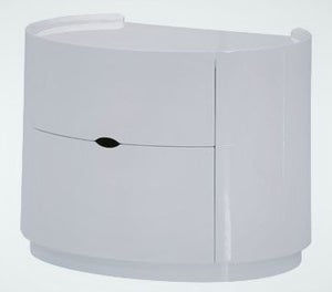 Clearance - Neptune White High Gloss Bedside Cabinet - New - FSS9029