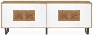 Clemence Richard Modena Oak 4 Door Wide Sideboard