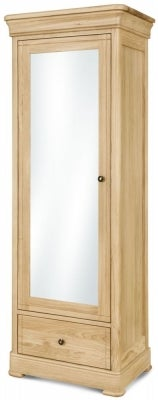 Clemence Richard Moreno Oak 1 Door Wardrobe
