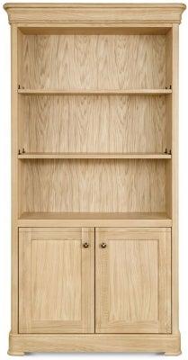 Clemence Richard Moreno Oak Tall Wide Bookcase