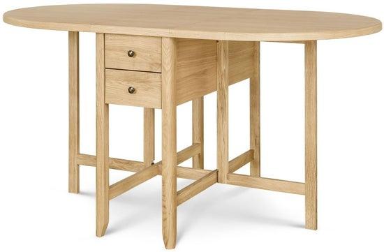 Clemence Richard Moreno Oak Drop Leaf Dining Table