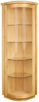 Clemence Richard Sorento Oak 1 Door Corner Display Cabinet