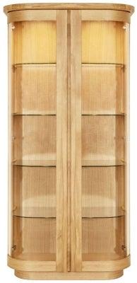 Clemence Richard Sorento Oak 2 Glass Door High Display Cabinet
