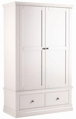 Corndell Annecy Cotton Painted 2 Door 2 Drawer Wardrobe