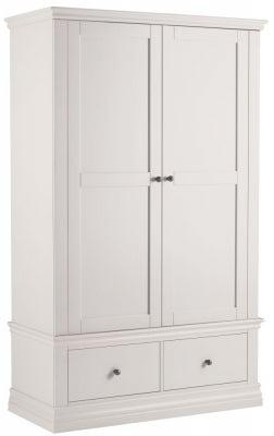 Corndell Annecy White Painted 2 Door 2 Drawer Wardrobe
