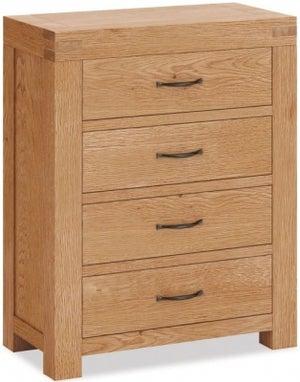 Corndell Sherwood Rustic Oak 4 Drawer Chest