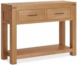 Corndell Sherwood Rustic Oak Console Table