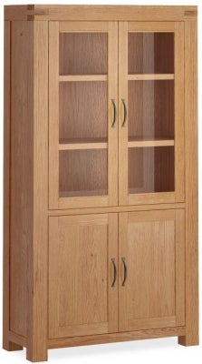 Corndell Sherwood Rustic Oak Display Cabinet