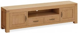 Corndell Sherwood Rustic Oak Extra Large TV Unit