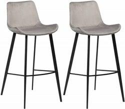 Clearance - Dan Form Hype Alu Velvet Dining Chair with Black Legs (Pair) - New - FS1002