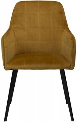 Dan Form Embrace Bronze Velvet Armchair