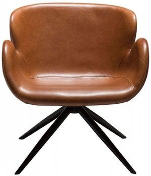 Dan Form Gaia Vintage Light Brown Faux Leather Lounge Chair