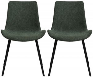 Dan Form Hype Sage Green Fabric Dining Chair (Pair)
