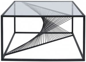 Cheadle Black and Glass Coffee Table