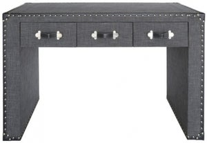 Leece Trunk Style Grey Console Table