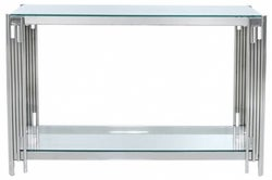 Grambling Glass and Chrome Console Table