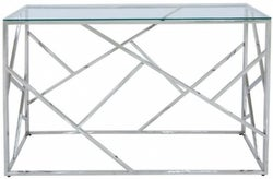 Haslemere Glass and Chrome Console Table