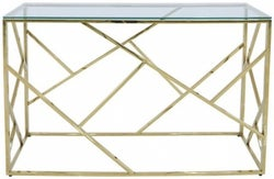 Haslemere Glass and Gold Console Table