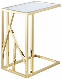 Haslemere Glass and Gold Sofa Table