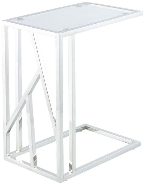 Haslemere Glass and Chrome Sofa Table